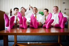 Photo inspiration for the groomsmen who aren't afraid to make a bold color statement | Tara Parekh Photography