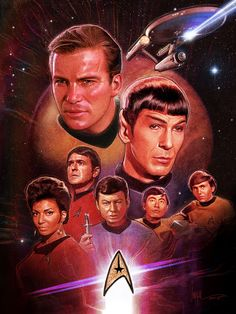 Star Trek -The Original Crew by Paul Shipper #graphicdesign #popculture #startrek #startrektheoriginalseries