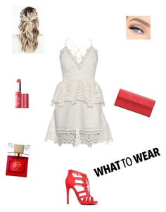 """""""...❤️"""" by fashion-is-great-2 on Polyvore featuring self-portrait, Qupid, Bare Escentuals and Kate Spade"""