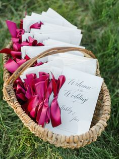 Wedding ceremony program idea; Featured Photographer: Rachel May Photography