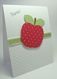 Stamping up north: cricut thank you card scrapbook ideas teacher thank you Teachers Day Card, Teacher Thank You Cards, Thank You Gifts, Teacher Gifts, Cute Cards, Quick Cards, Pretty Cards, Cricut Cards, Scrapbook Cards