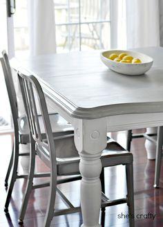 Dining table idea, but white top or wood grain. Super cute DIY Home Decor Ideas at the36thavenue.com Love them! #diy #home #decor