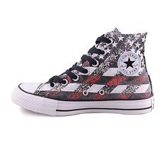 8c2967fead98 converse 2015 new woman in spring and autumn wind American flag high-top  shoes 148703C