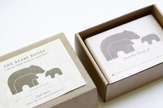Bears Books Bookplate Stamp by INK+WIT (Tara Hogan)