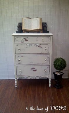 White distressed dresser. For our bedroom