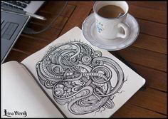 Irina Vinnik from Saint Petersburg, Russia created Sketchbook Drawings, where you can see beautiful hand-drawn pencil drawings. Moleskine, Best Sketchbook, Sketchbook Drawings, Ink Drawings, Doodle Art, Cool Pencil Drawings, Cool Sketches, Sketch Art, Sketchbook Inspiration