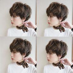 Pin on パーマ Messy Short Hair, Short Hair Cuts, Short Hair Styles, Long Pixie, Pixie Cut, New Hair, Your Hair, Tomboy Hairstyles, Grown Out Pixie