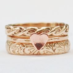 Love Mixed Metal Gold Fill and a Copper Heart by lovestrucksoul