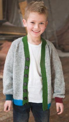 Cardigan med farvede kanter | Familie Journal