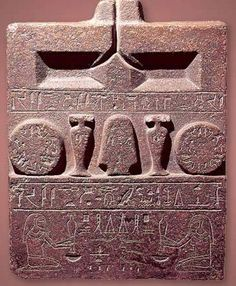 Offering Table of Khety. JE 67858 Cairo Antiquities Museum. Material: Red Granite Period: First Intermediate Period to Middle Kingdom (2160-2055 BC) Size: Height 80 cm; Width: 62.5 cm; Depth: 27.3 cm