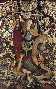 Anonymous 'The Archangel Saint Michael Ca. 1495 ' Oil Painting