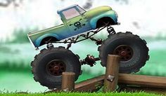 In Truck Trials, can you handle all of these intense obstacle courses? Each one is filled with crushed cars, barriers, gaps and other stuff that could really wreck your monster truck. You'll definitely want to choose a super awesome rig before you get started on the crazy challenges you'll find in this online racing game.