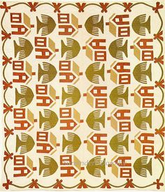 Trees and houses quilt. Could be a cool theme... Mabye add an animal or two here and there...