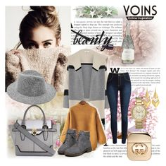 """""""Yoins contest-Winner can get Yellow High Neck Jumper"""" by emina-095 ❤ liked on Polyvore featuring Vince, Alexis Bittar, River Island, Gucci, Michael Kors, yoins and yoinscollection"""