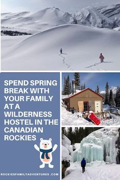 Rent-a-hostel for your family and enjoy an entire wilderness cabin for your household this spring break in the Canadian Rockies! #alberta #banff #jasper #canadianrockies #hosteling #winter #spring #outdoorfun #adventuretravel #familytravel #springbreak #kananaskis Canadian Travel, Canadian Rockies, Family Adventure, Adventure Travel, Banff National Park, National Parks, Lake Louise Ski Resort, Tourism Victoria