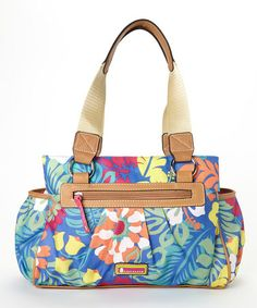 5b08df3739 Tiki Bar Floral Triple Section Satchel by Lily Bloom