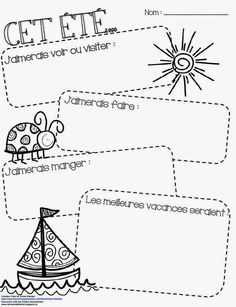 The Online Way of Learning French End Of Year Activities, Writing Activities, Summer Activities, French Teaching Resources, Teaching French, French Summer, French Education, Core French, French Classroom