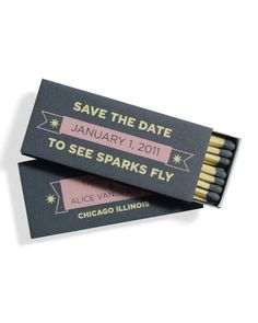 Matchbook Save-the-Date! Save the date to see sparks fly! Save The Date Wedding, Unique Save The Dates, Save The Date Cards, Save The Date Ideas Diy, Wedding Favors, Diy Wedding, Dream Wedding, Wedding Ideas, Trendy Wedding