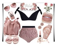 """""""ROSE GOLD"""" by tigerlilli ❤ liked on Polyvore featuring Zimmermann, Ted Baker, MAC Cosmetics, Puma, Casetify and Tory Burch"""