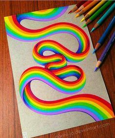 Rainbow Ribbon by dannii-jo - - # drawings- Rainbow Ribbon von dannii-jo – – Rainbow Ribbon by dannii-jo – – - Rainbow Drawing, Rainbow Painting, Rainbow Ribbon, Rainbow Colors, Rainbow Pastel, Rainbow Swirl, Rainbow Dash, Colorful Drawings, Cute Drawings