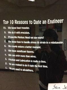 Top 10 Reasons To Date An Engineer - Damn! LOL