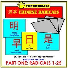 Chinese Radicals Part One: Radicals 1-25