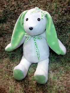 memory Bear/Bunny made from your childs old baby blankets. Fallow me on Facebook: Creative Crafts by Dawn