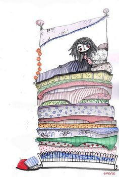 the princess and the pea, one of my faves.  very unique!