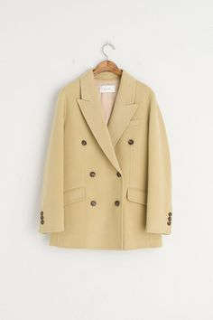 Double Button Hand Made Jacket, Olive
