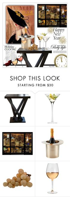 """Holiday Cocktails"" by mcheffer ❤ liked on Polyvore featuring interior, interiors, interior design, дом, home decor, interior decorating, Chanel, Abbyson Living, LSA International и Lunares"