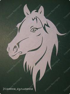 Поделка изделие Новый год Вырезание Лошади кони вытынанки Бумага фото 12