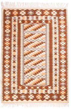 """Kilim II """"Garibalda"""" -  hand woved kilim with a typical geometrical pattern named """"garibalda""""."""