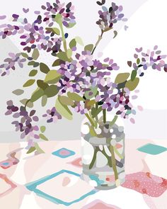 Illustration by Kimmy Hogan. Colours are vibrant and crisp printed with archival ink on lovely 300 gsm cotton rag card. Art will last a lifetime. Gravure Illustration, Plant Illustration, Art Furniture, Anime Comics, Greenhouse Interiors, Paper Artwork, Still Life Art, Illustrations, Fine Art Paper