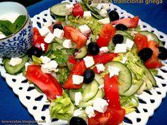 Ensalada tradicional griega