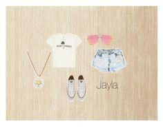 """Jayla 0.1"" by tibbersinateacup on Polyvore featuring mode, Calvin Klein, Billabong, Levi's, Converse, Quay en Kate Spade"