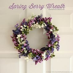 Love this dollar store Spring Wreath