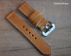 24mm watch band  Handmade leather watch strap by CentaurStraps