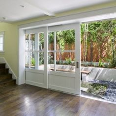 Looking for new trending french door ideas? Find 100 pictures of the very best french door ideas from top designers. Get your inspirations today! My Dream Home, Home Projects, Future House, Beautiful Homes, Beautiful Life, Outdoor Living, Indoor Outdoor, Outdoor Doors, Outdoor Patios
