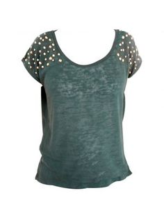 Dark green stud top