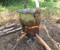 Firebox Nano Ultralight Backpacking Wood Burning Camping Stove Demo!