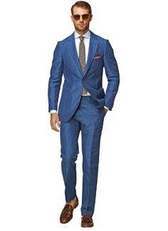 Havana Blue Stripe $469 Suit Supply