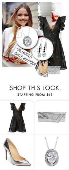 """""""ENCHANTED OPALS BOUTIQUE 1"""" by dina-55 ❤ liked on Polyvore featuring Notte by Marchesa and Christian Louboutin"""