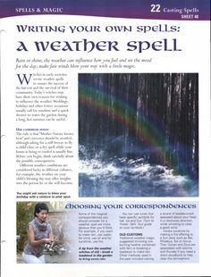 Enhancing Mind Body Spirit 22 Casting Spells Card 48 Writing Your Own Spells: A Weather Spell