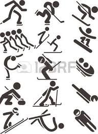 Illustration of Silhouette set of different winter sports skiing part 1 vector art, clipart and stock vectors. Sport Icon, Textiles, School Parties, Winter Sports, Vector Art, Skiing, Doodles, Clip Art, Sporty