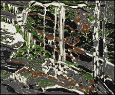 David Milne (Canadian, Drying Waterfall, Oil on canvas, 20 x 24 in. Canadian Painters, Canadian Artists, David Milne, Paintings I Love, Art Paintings, Abstract Styles, Urban Landscape, Art Auction, Art Techniques