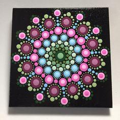 Hand Painted Mandala on Canvas, Meditation Mandala, Dot Art, Healing, Calming, #526 by MafaStones on Etsy