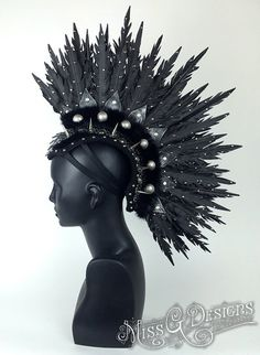 Feather Mohawk Faux MADE TO ORDER by MissGDesignsShop on Etsy