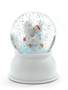 Djeco sneeuwbol lamp witte vos
