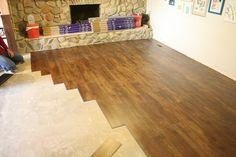 Luxury Vinyl Tile that looks like wood.