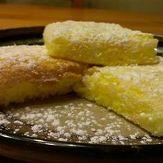 Easy Lemon Bars  (only 2 ingredients: angel food cake mix and 1 can lemon pie filling!) - Old WW: 4 pts, PTS+: 5 pts